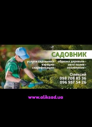 Садовник, озеленення, ландшафтний дизайн