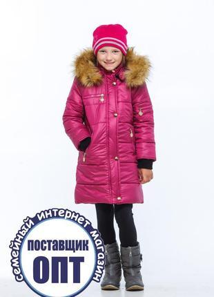 Зимнее термо пальто для девочки размеры 86 - 152