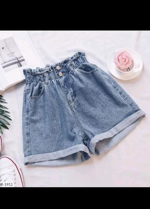 Женские джинсовые шорты на резинке
