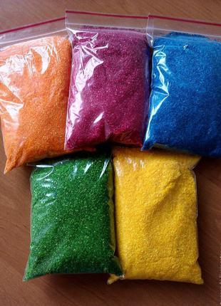 Натуральный цветной ароматизированный сахар для сладкой ваты 1кг
