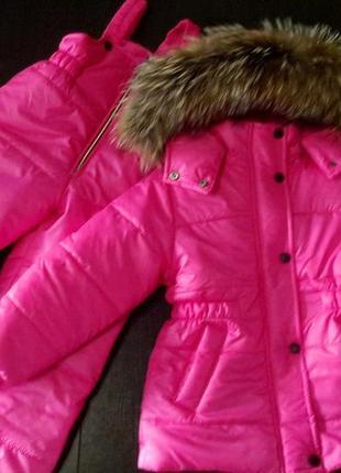 Детский зимний термо комплект для девочки размеры 74 - 152 опу...