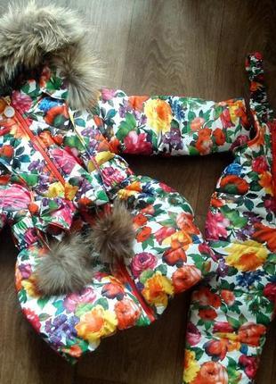 Зимнее пальто для девочки ( можно комплект ) 86 - 152 размеры