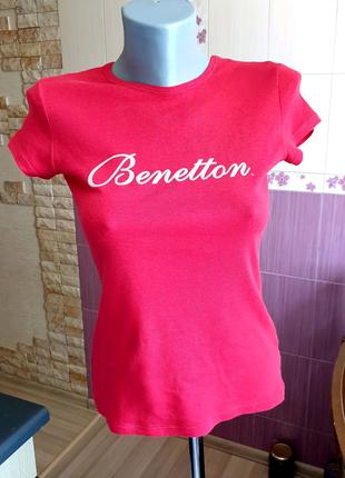 Красная футболка из органического хлопка benetton
