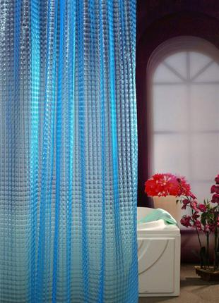 Шторка в ванную силиконовая 3Д эффект/ Штора в душевую 3D