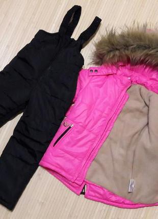 Зимний термо костюм для девочки размеры 86, 92, 98, 104, 110, ...