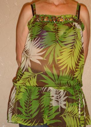 Туника женская шифон размер 48-50 блузка блуза кофточка летняя...
