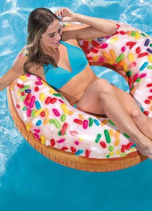 Надувной круг Пончик Intex/ матрас/ плот
