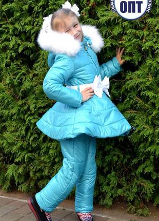 Детский новый зимний термо комплект для девочки размер 110-116...
