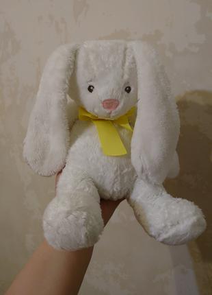 Детская мягкая игрушка плюшевый зайка