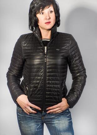 Куртка женская демисезонная черная код 20519