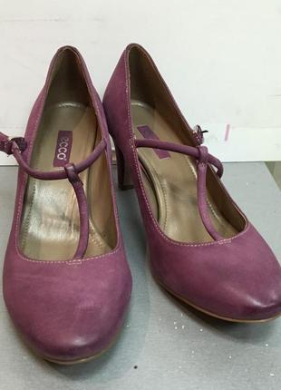 Туфли женские кожаные удобные мягкие ecco код Е1675