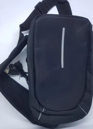 Сумка рюкзак через плечо bobby mini с USB – черная
