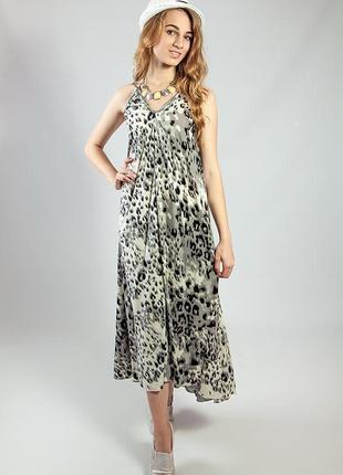 Женское платье-сарафан в пол летнее на бретелях  код В-21201