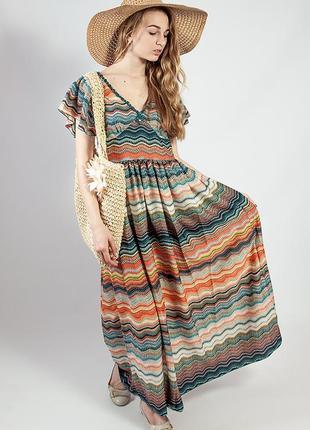 Платье женское летнее цветное яркое длинное  markshara код 21379