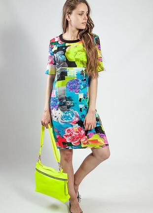 Женское платье-туника летнее цветное яркое код М177
