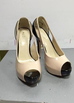 Женские летние кожаные туфли открытый носок aldo код А21210