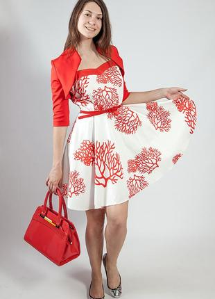 Женское платье-сарафан летнее на бретелях rinascimento код R-242