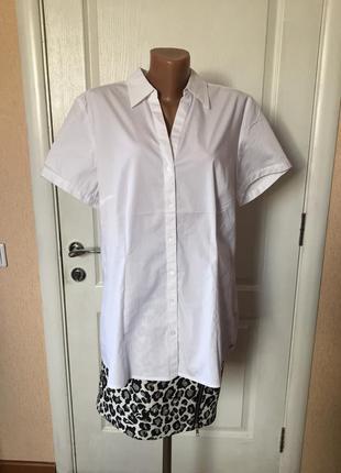 Рубашка женская белая короткий рукав s.oliver код S-1637a