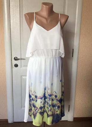 Платье женское сарафан летнее на бретелях легкоее код V-1503