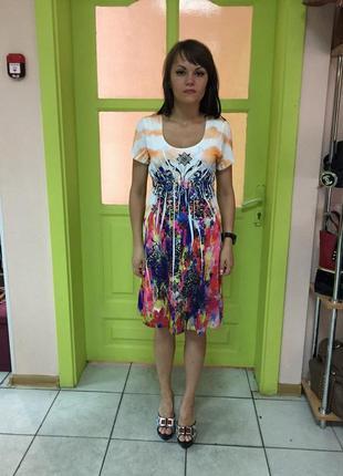 Платье женское летнее цветное короткий рукав код Sn-246