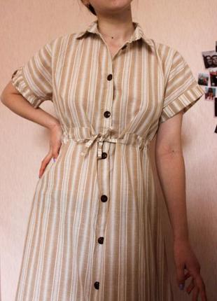 Хлопковое летнее платье ручной работы
