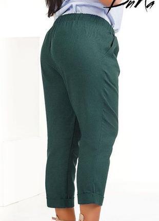 Женские летние брюки-капри лен код К-42582