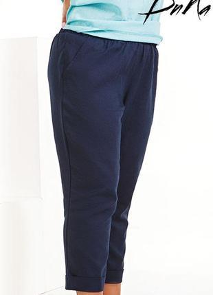 Женские летние брюки-капри ленкод К-42581