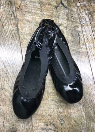 Женские кожаные балетки Chanel, производство Париж, р 37-23см
