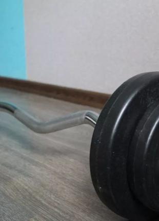 Набор штанг и гантели Elitum TITAN Hop Sport 119 кг + 43 кг