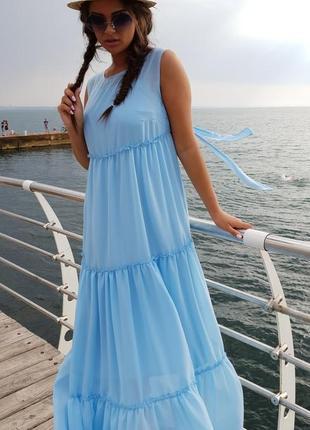 Женское платье шифоновое в пол код К-43531