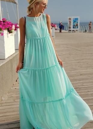 Женское платье шифоновое в пол код К-43529