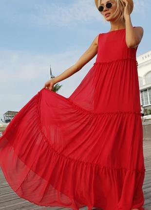 Женское платье шифоновое в пол код К-43526