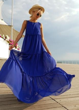 Женское платье шифоновое в пол код К-43533
