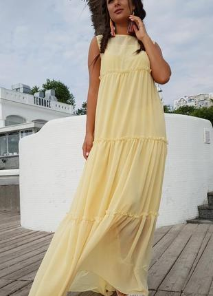 Женское платье шифоновое в пол код К-43530