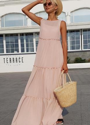 Женское платье шифоновое в пол код К-43528
