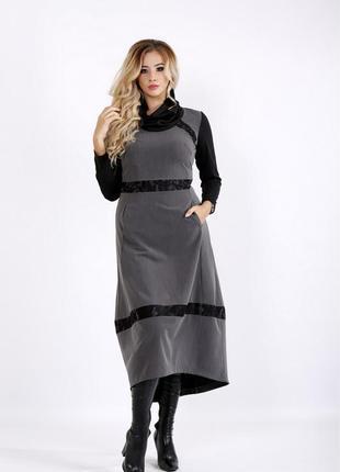 Платье женское демисезонное батальные код Га-0904-3