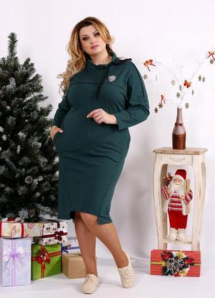 Женское стильное платье большие код Га-0671-2