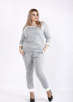 Спортивный женский костюм большие код Га-0938-3