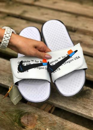 Шлепанцы nike off-white