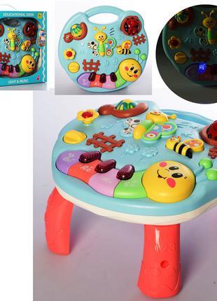Детский игровой развивающий музыкальный центр Бизиборд 3903 свет,