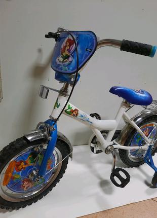Велосипед детский 2-х колесный Русалочка 14 дюймов