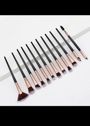 Профессиональный набор кистей для макияжа 12 штук