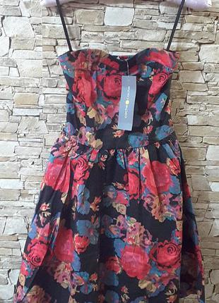 Мегатрендовое платье  бюстье, eu 36, s, cache cache, франция