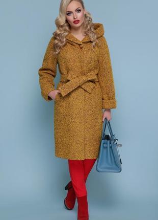 Женское зимнее пальто с капюшоном код G-П-304-100 з