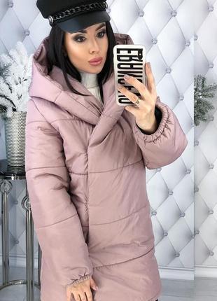 Зимняя женская куртка с капюшоном синтепон-200 код К-47701