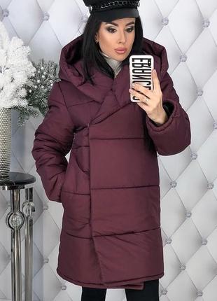 Зимняя женская куртка с капюшоном синтепон-200 код К-47703