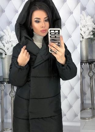Зимняя женская куртка с капюшоном синтепон-200 код К-47702