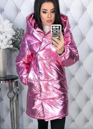 Зимняя женская куртка с капюшоном синтепон-200 код К-47708