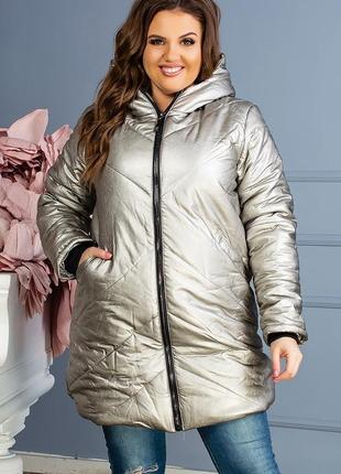Женская зимняя  очень теплая куртка синтепон-250 код К-47712