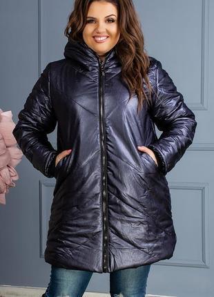 Женская зимняя очень теплая куртка синтепон-250 код К-47711